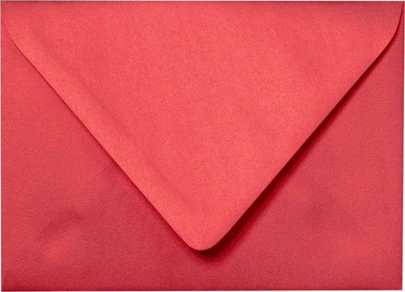 "Outer A-7.5 Jupiter Red Metallic Euro Flap Envelopes (5 1/2"" x 7 1/2"") - Paperandmore.com"