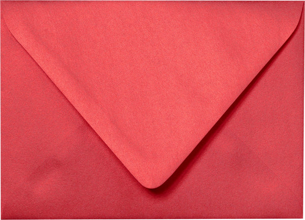"A-7 Jupiter Red Metallic Euro Flap Envelopes (5 1/4"" x 7 1/4"") - Paperandmore.com"