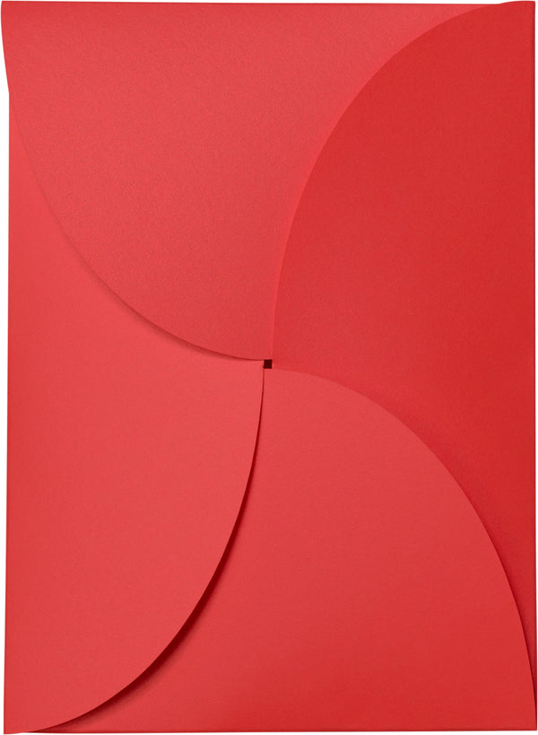 Jupiter Red Metallic Petal Cards 105 lb, 5 1/8