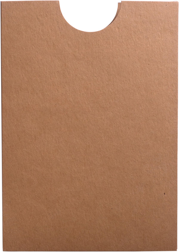 Kraft Brown 100 lb Raw Recycled Sleeve, 5
