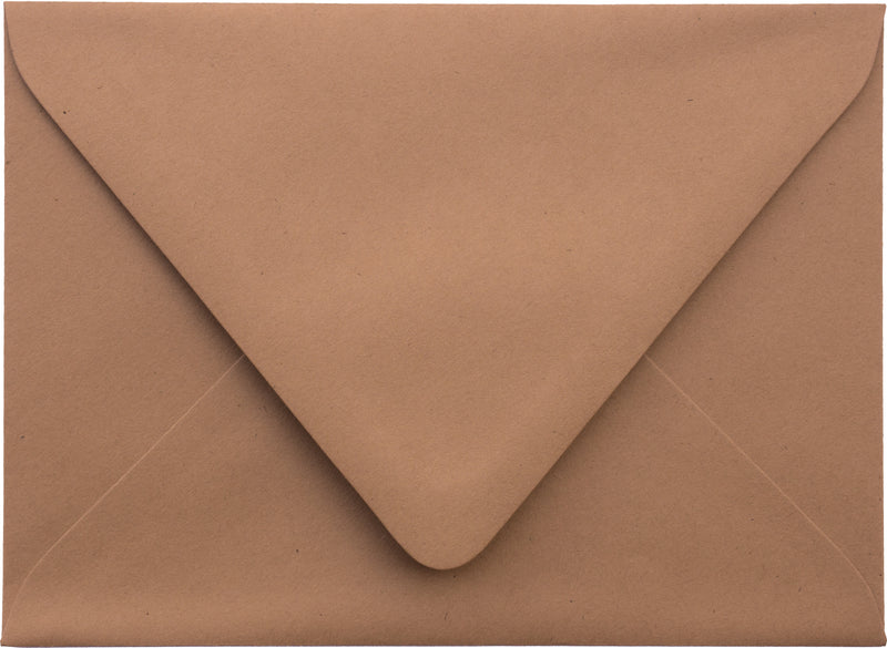 "A-1 (RSVP) Kraft Brown Raw Recycled Euro Flap Envelopes (3 5/8"" x 5 1/8"") - Paperandmore.com"