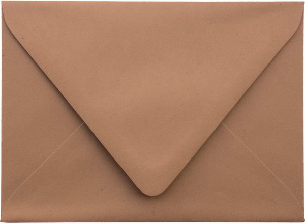 A-7 Kraft Brown Raw Recycled Euro Flap Envelopes (5 1/4