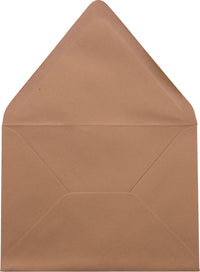 "A-7 Kraft Brown Raw Recycled Euro Flap Envelopes (5 1/4"" x 7 1/4"")"