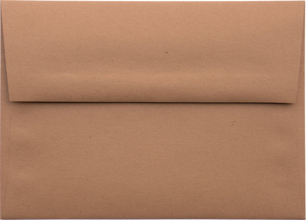 A-7 Kraft Brown Raw Recycled Envelopes (5 1/4