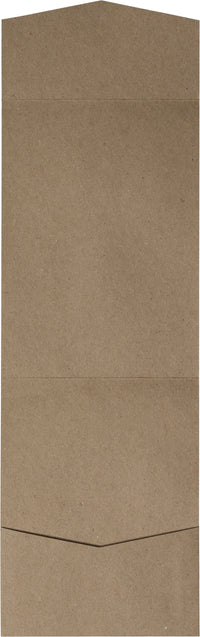 Kraft Brown Recycled Pocket Invitation Card 65#, A7 Cascade