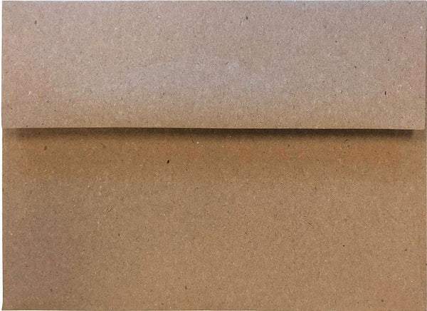 A-1 (RSVP) Brown Kraft Recycled Envelopes (3 5/8