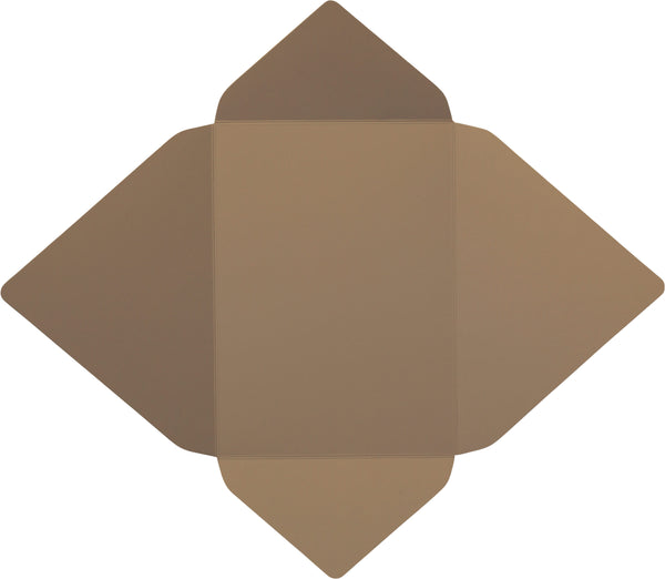 Kraft Brown 130# Recycled - A-7 Euro Flap Card Enclosure