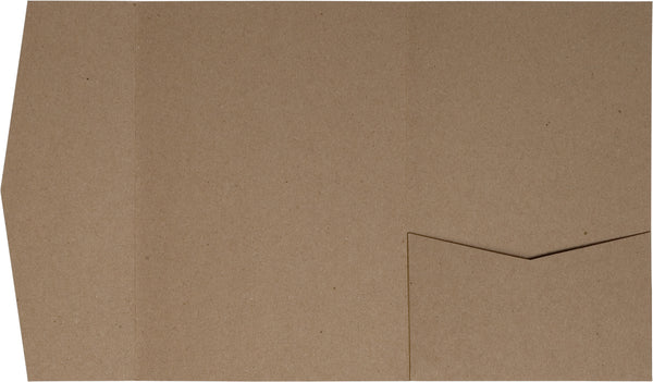Kraft Brown 130 lb Recycled Pocket Invitation Card, A-7.5 Himalaya (Discontinued) - Paperandmore.com