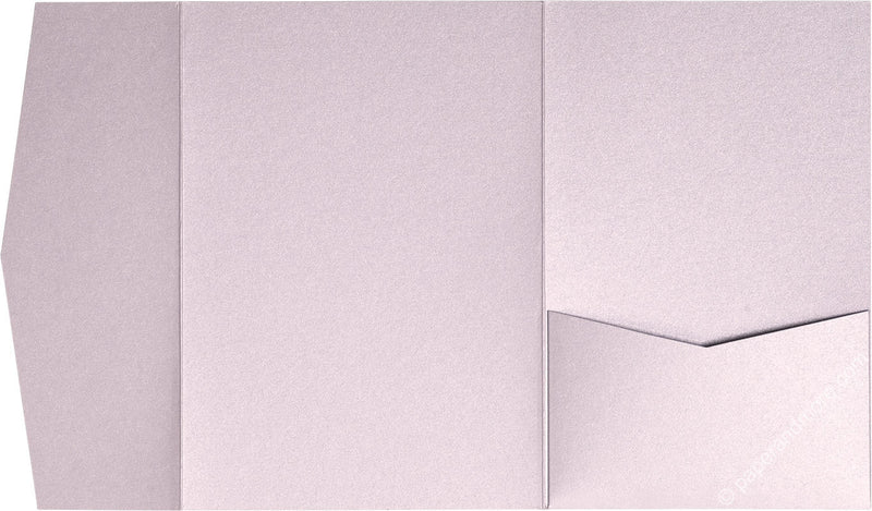 Kunzite Metallic Pocket Invitation Card, A7 Himalaya - Paperandmore.com