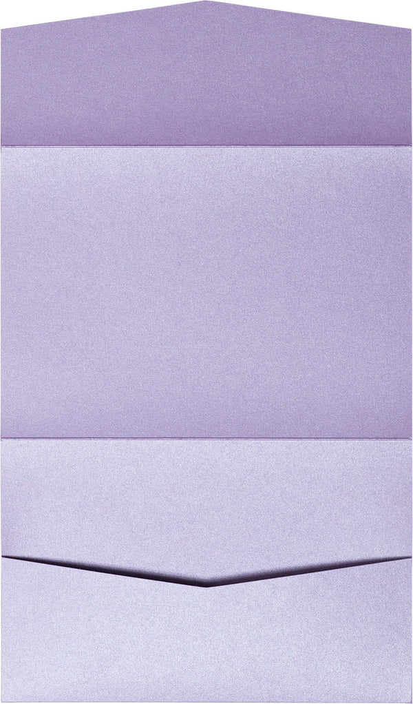 Lavender Metallic Pocket Invitation Card, A7 Atlas - Paperandmore.com