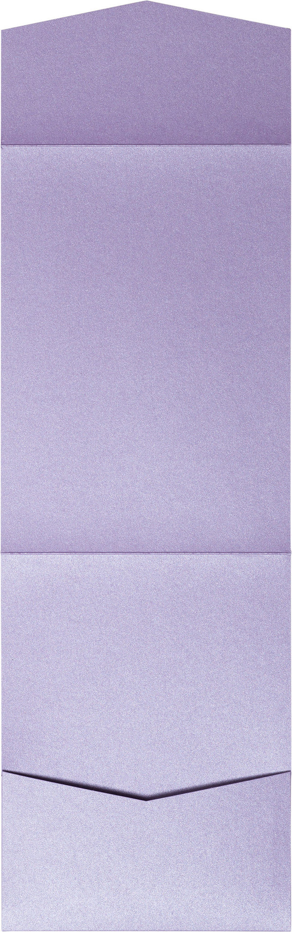 Lavender Metallic Pocket Invitation Card, A7 Cascade - Paperandmore.com