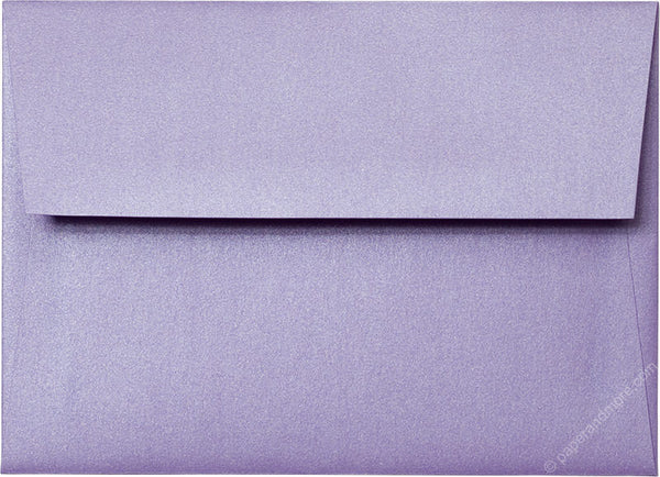 "A-7 Lavender Metallic Envelopes (5 1/4"" x 7 1/4"") - Paperandmore.com"