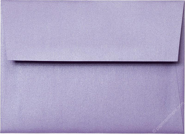 Outer A-7.5 Lavender Metallic Square Flap Envelopes (5 1/2