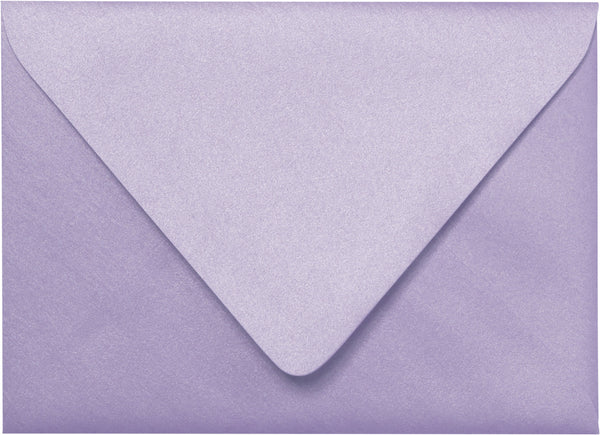 Outer A-7.5 Lavender Metallic Euro Flap Envelopes (5 1/2