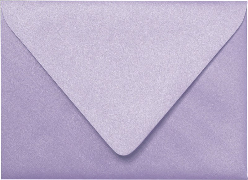 "Outer A-7.5 Lavender Metallic Euro Flap Envelopes (5 1/2"" x 7 1/2"") - Paperandmore.com"