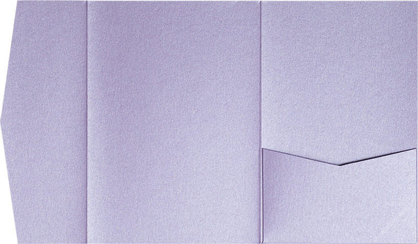 Lavender Metallic Pocket Invitation Card, A7 Himalaya - Paperandmore.com