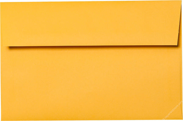 "A-7 Lemon Yellow Solid Envelopes (5 1/4"" x 7 1/4"") - Paperandmore.com"