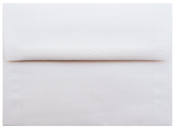 A-2 Limba White Embossed Wood Grain Envelopes (4 3/8