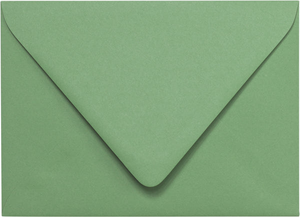 A-7 Matcha Tea Green Solid Euro Flap Envelopes - Paperandmore.com