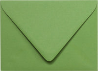 "A-7 Solid Meadow Green Euro Flap Envelopes (5 1/4"" x 7 1/4"")"