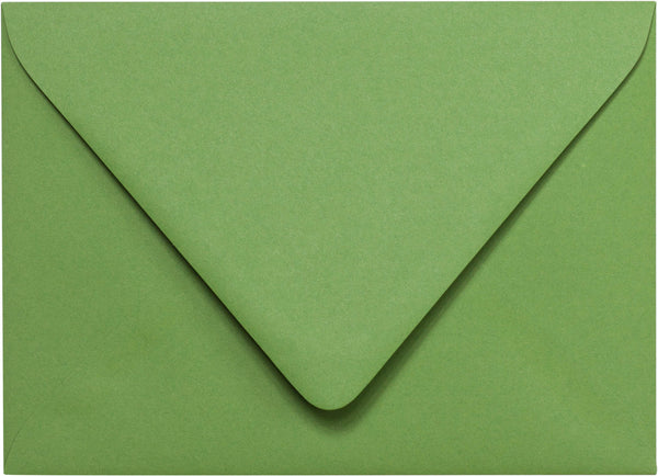 "A-7 Solid Meadow Green Euro Flap Envelopes (5 1/4"" x 7 1/4"") - Paperandmore.com"