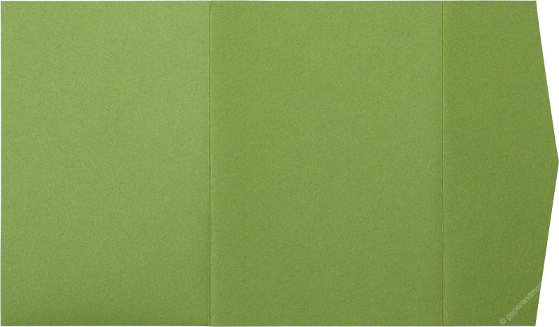 Meadow Green Solid Pocket Invitation Card, A7 Himalaya - Paperandmore.com