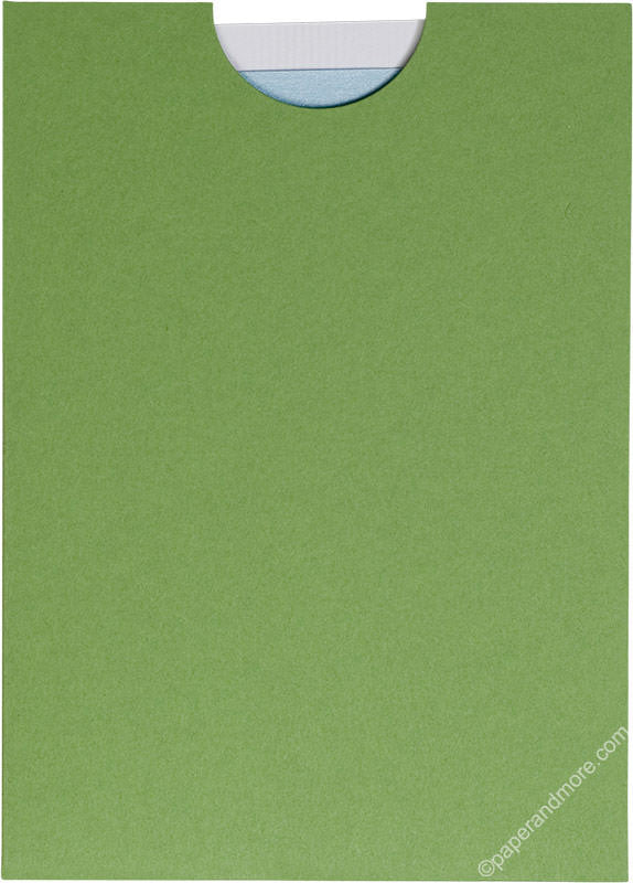 "Meadow Green Solid Sleeve, 5"" x 7"" - Paperandmore.com"
