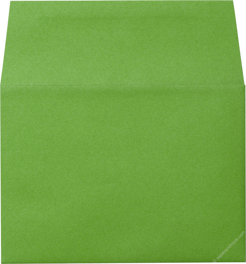 "A-7 Meadow Green Solid Envelopes (5 1/4"" x 7 1/4"") - Paperandmore.com"