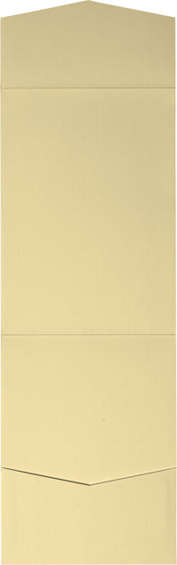 Metallic Gold Linen Pocket Invitation Card, A7 Cascade