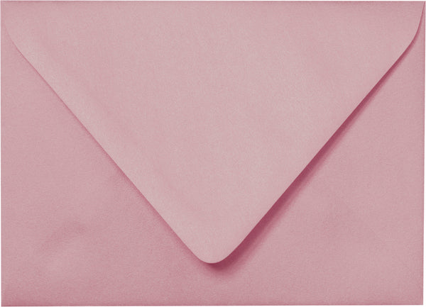 "A-7 Misty Rose Metallic Euro Flap Envelopes (5 1/4"" x 7 1/4"") - Paperandmore.com"