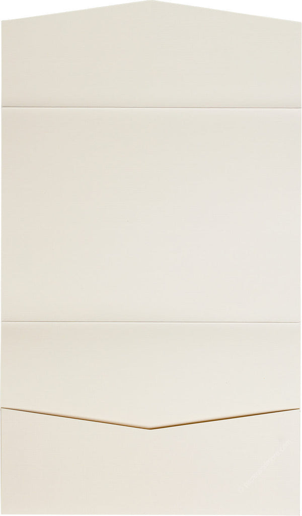 Classic Natural Cream Solid Pocket Invitation Card, A7 Atlas - Paperandmore.com