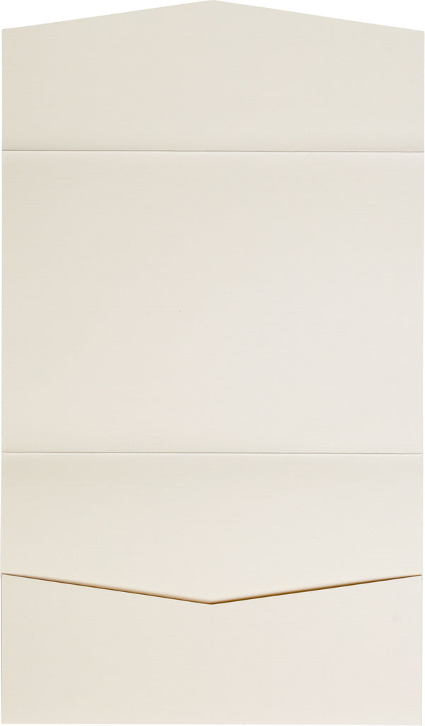 Natural Cream Linen Pocket Invitation Card, A7 Atlas
