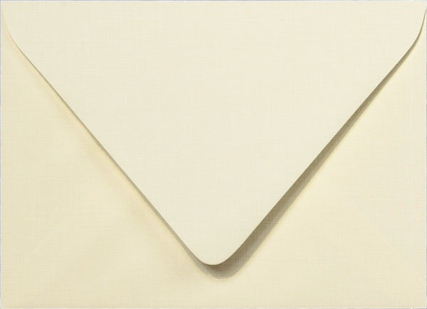 A-7 Natural Cream Linen Euro Flap Envelopes 5 1/4