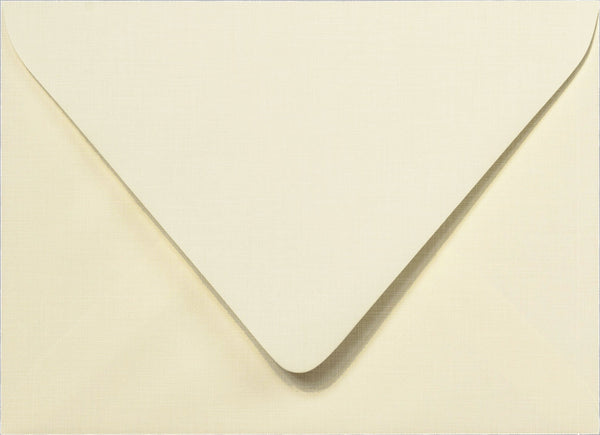 A-7 Natural Cream Linen Euro Flap Inner Envelopes - Ungummed - 5 1/4