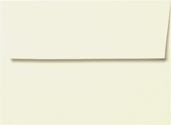 A-1 (RSVP) Natural White Cotton Envelopes (3 5/8