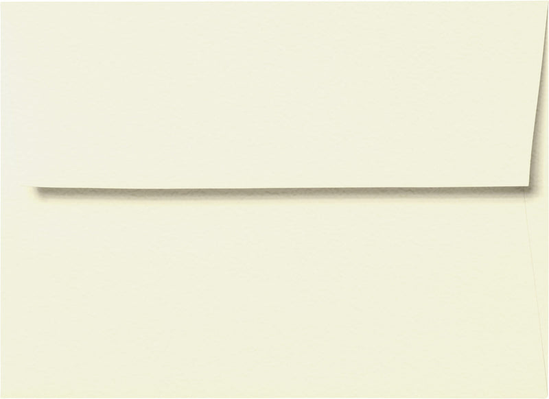 "Outer A-7.5 Natural White Cotton Square Flap Envelopes (5 1/2"" x 7 1/2"") - Paperandmore.com"