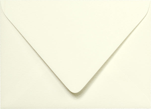 "A-7 Natural White Cotton Euro Flap Envelopes 5 1/4"" x 7 1/4"" - Paperandmore.com"