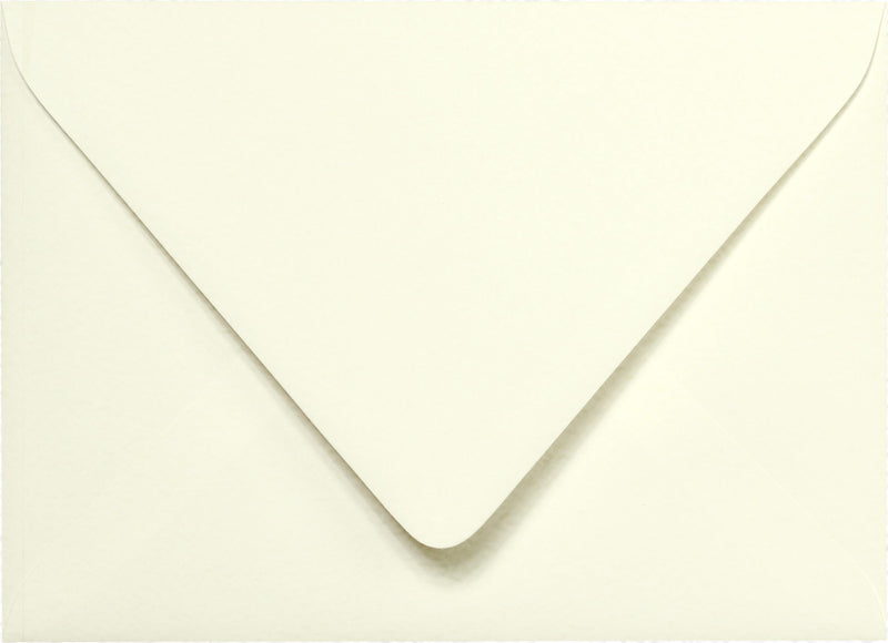 "Outer A-7.5 Natural White Cotton Euro Flap Envelopes (5 1/2"" x 7 1/2"") - Paperandmore.com"