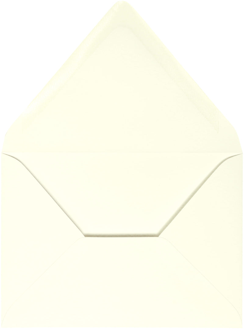 "A-1 (RSVP) Natural White Cotton Euro Flap Envelopes (3 5/8"" x 5 1/8"") - Paperandmore.com"