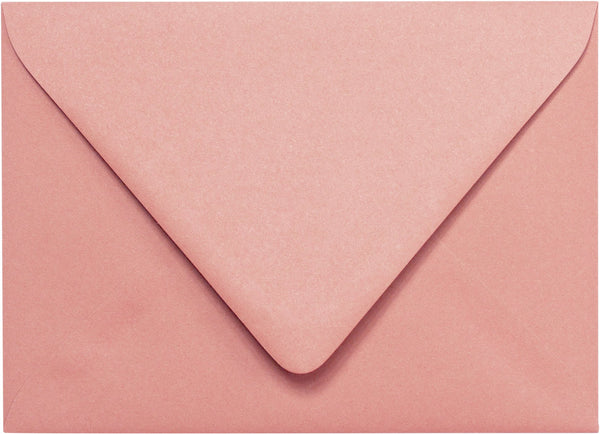 "Outer A-7.5 Old Rose Pink Solid Euro Flap Envelopes (5 1/2"" x 7 1/2"") - Paperandmore.com"