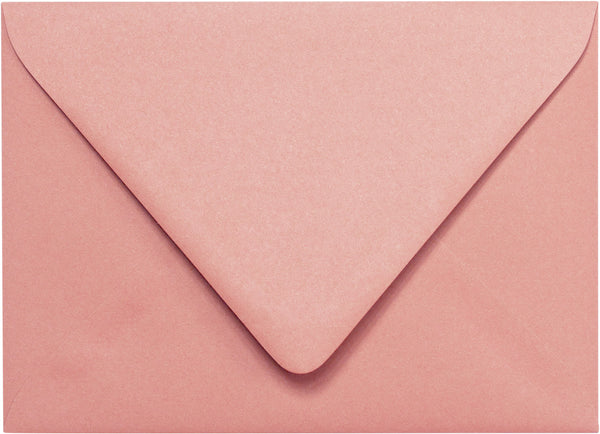 A-1 (RSVP) Old Rose Pink Solid Euro Flap Envelopes (3 5/8