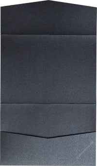 Onyx Black Metallic Pocket Invitation Card, A7 Atlas - Paperandmore.com