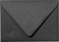 "A-1 (4 Bar) Onyx Black Metallic Euro Flap Envelopes (3 5/8"" x 5 1/8"") - Paperandmore.com"