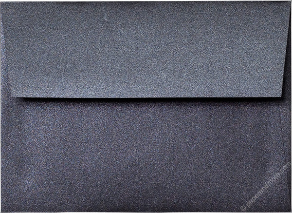 "A-7 Onyx Black Metallic Envelopes (5 1/4"" x 7 1/4"") - Paperandmore.com"