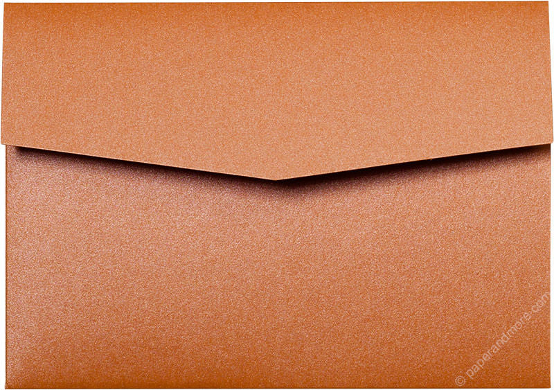 Orange Flame Metallic Pocket Invitation Card, A7 Himalaya - Paperandmore.com