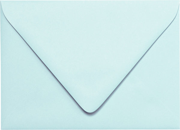A-1 (RSVP) Pastel Blue Solid Euro Flap Envelopes (3 5/8