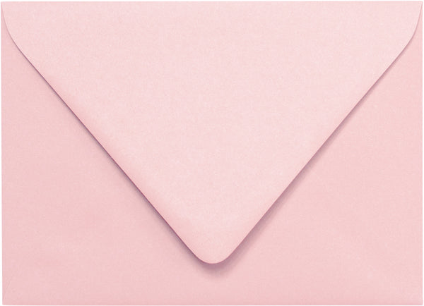 A-7 Pastel Pink Solid Euro Flap Envelopes