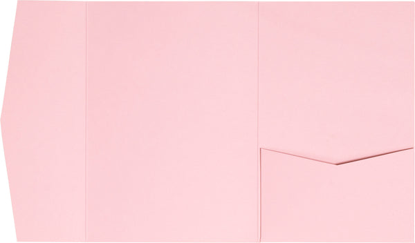 Pastel Pink Solid Pocket Invitation Card, A7 Himalaya