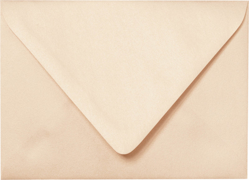 "Outer A-7.5 Peach (Coral) Metallic Euro Flap Envelopes (5 1/2"" x 7 1/2"") - Paperandmore.com"