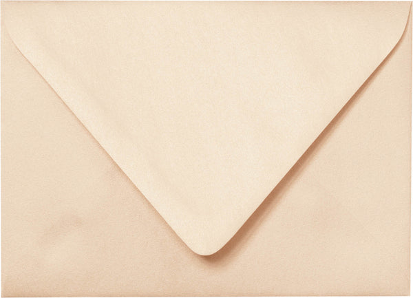 "A-2 Peach (Coral) Metallic Euro Flap Envelopes (4 3/8"" x 5 3/4"") - Paperandmore.com"